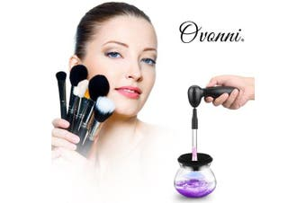 Ovonni Electric Makeup Brush Cleaner Wash and Dry Your Cosmetic Brush Quick and Easy - France- France