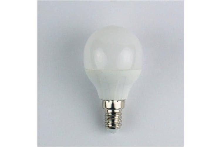 4W E14 LED Globe Bulbs G45 6 leds SMD 3528 Cold White 325lm 6400K AC 110-240V- Cold White