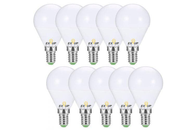 EXUP 10PCS G45 E14 AC 220 - 240V 7W LED Globe Bulb- White 6000 - 6500K