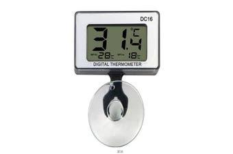 DC-16 Digital Mini Waterproof LCD Display Aquarium Thermometer + Suction Cup- White