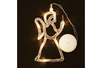 LED Christmas lights String Decorative Light Deer Bell Stars Tree Window Sucker Glass- Elves