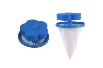 Washing Machine Hair Remover Filter Bag 1pcs- Ocean Blue 1pc