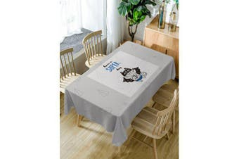 Cat Have A Super Day Print Table Cloth- Gray W54 inch * L72 inch