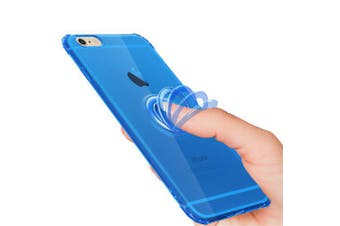 Drop Proof Finger Ring Protective Phone Case Mobile for iPhone 6S- Blue iPhone 6S