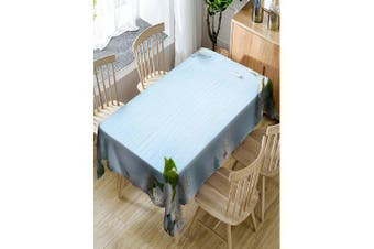 Flower Printed Waterproof Table Cloth- Cloudy W60 inch * L84 inch