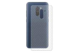 CHUMDIY 3D Anti-Fingerprint Back Film Screen Protector for Xiaomi Pocophone F1- Transparent