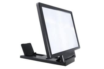 Hd Radiation Protection 3 D Mobile Phone Screen Magnifier- Black