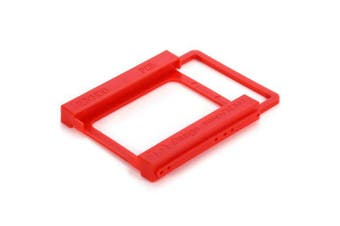 2.5 inch SSD to HDD Mounting Bracket Hard Drive Holder Adapter- Red
