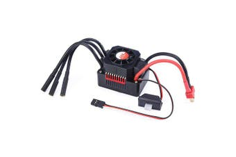 GTSKYTENRC 60A Waterproof ESC Electric Speed Controller for 1/10 1/12 RC Car 3660 / 3670 Brushless Motor- Red