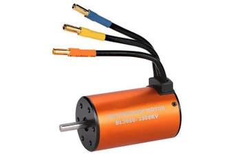 3660 3300KV Waterproof Brushless Motor- Tangerine