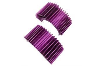 Carbon Brush Brushless Radiator for 540 / 550 / 560 Model Car- Purple Iris