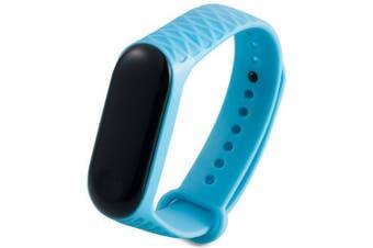 Rhombus Smart Watch Band for Xiamoi Mi Band 3- Crystal Blue