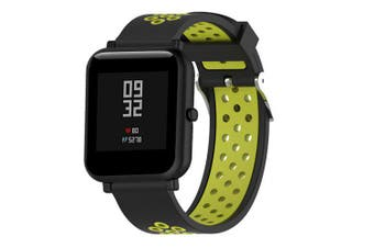 Silicone Watch Band Strap for AMAZFIT Bip Youth 20MM- Green Yellow
