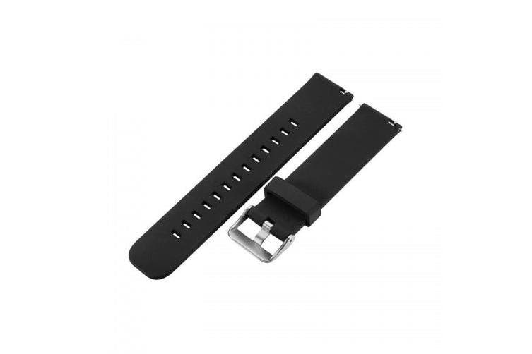Sports Silicone Watch Band for AMAZFIT Bip- Black
