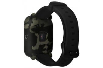 Camouflage Soft Silicone Full Cover Case for AMAZFIT Bip Youth Watch- Woodland Camouflage