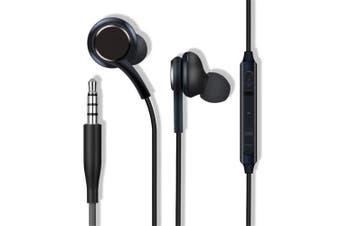 Headphones for Samsung Galaxy S9 / S8 Plus / S8 Handsfree Earphones- Black