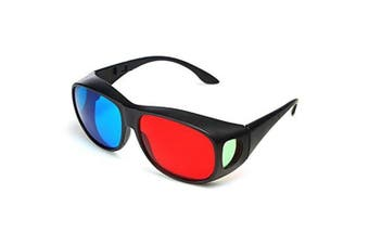 Red Blue 3D Glasses / Cyan Anaglyph Simple 3D Movie Game Extra Upgrade Style- Blue and Red