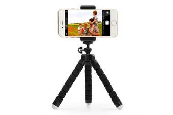 ANDE Portable Adjustable Tripod Stand Holder- Black