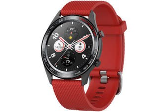Texture Watch Strap for Huawei Honor Magic Watch- Red L