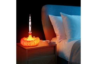 3D Printing Rocket Lamp USB Rechargeable LED Night Light Innovative Creative Home Decoration- Milk White J shape