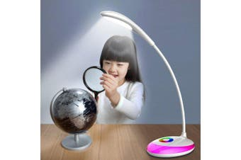 JIAWEN Dimming Desk Lamp for Kids Bedroom Eye Protection Touch Reading- White