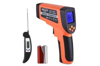 COOKJOY CW364 Digital Laser Infrared Thermometer- Mango Orange