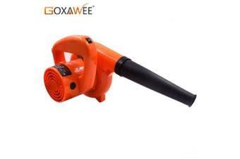 GOXAWEE 220V 6 Speed Electric Air Blower Vacuum Blowing Dust Collector Hand leaf Blower 2 in 1 Fan- Russian Federation Orange EU