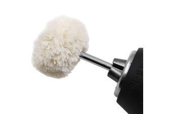 Amber Polishing Handle Wool Wheel Head 3.0 Handle- White 1pc