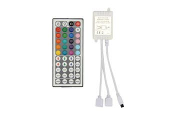 2-Port 44 Keys Wireless IR Remote Control Dimmer for RGB LED Strip Lights for 2pcs RGB LED Strips- 44 Only Controller