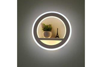 Nordic Modern Creative LED Round Wall Lamp- White