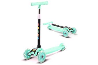 Kids Foldable Scooter Adjustable Tricycle- Green