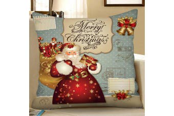 Christmas Style Digital Printing Square Pillow Case Sofa Cushion Cover- Multi W18 x L18 inch
