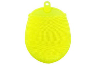 Bath Massage Silicone Soft Brush- Yellow