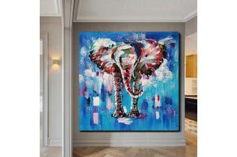 QINGYAZI HQS19105 Hand-painted Animal Theme Oil Painting Home Wall Art Frameless Paint- Multi-A 31 x 31 inch (80cm x 80cm)