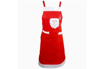 Aprons For Woman Christmas Decoration Santa Claus Apron Kitchen Aprons- Red