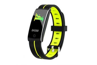 Fitness Heart Rate Monitor Blood Pressure Blood Oxygen Step pedometer Smart Watch- black green China