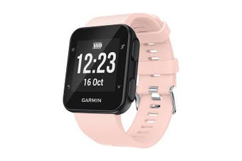 Soft Silicone Replacement Watch Band Strap For Garmin Forerunner 35 Smart Watch- Pink