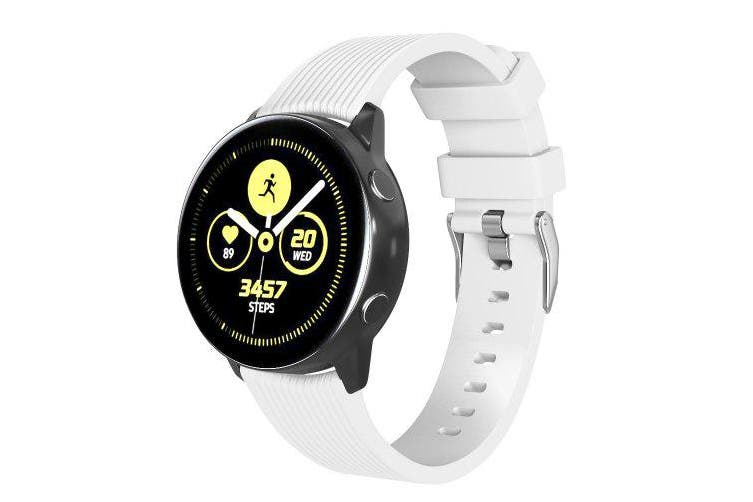Silicone Watch Band Strap for Samsung Galaxy Watch Active/Gear Sport /S2 Classic- White