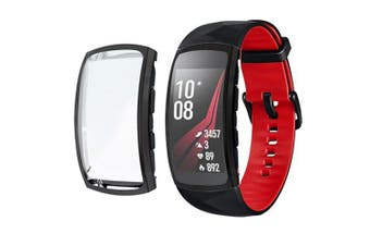 TPU Protection Watch Case Cover Case for Samsung Gear fit 2 pro- Black