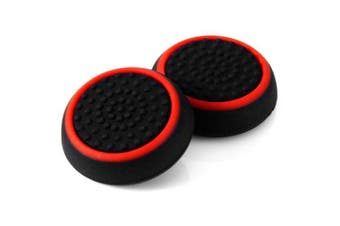 Wearable Controller Accessory Kits Button Caps for PS4 / XBox One - 2pcs- Black and red