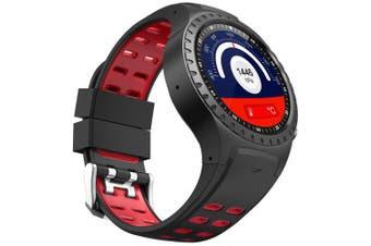 SMA M1S 2G Smartwatch Phone- Black BLACK+RED
