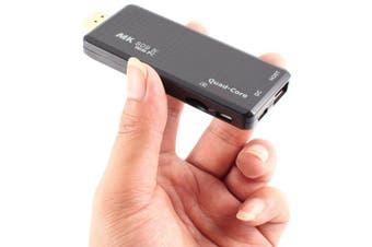 MK 809 IV TV Stick Mini PC Support 4K H.265- Black US Plug