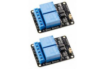2Pcs 5V Active Low 2 Channel Relay Shield Module for Arduino 2560 1280 ARM- Blue