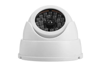 Dummy Fisheye Surveillance Camera- White