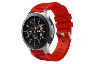 22MM Silicone Watch Strap Band For Samsung Gear S3 Classic / Frontier- Red