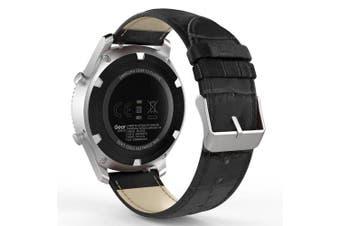 Genuine Leather Watch Band Wrist Strap for Xiaomi Huami Amazfit GTR 47MM- Black