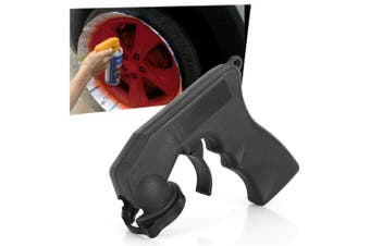 Paint Care Aerosol Spray Gun Handle with Full Grip- Black