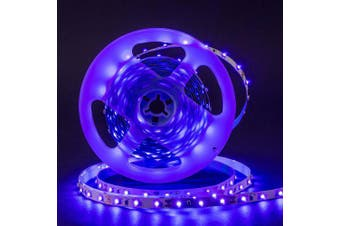 5M 24W DeepDream Black Light UV 395-400nm 3528 SMD Flexible LED Strip DC12V- Purple 1 Meters