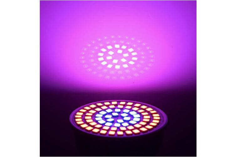 LED Grow Light E27 72LEDs SMD 2835 6W for Indoor Plants Plant Growth Lamp- Multi AC220V
