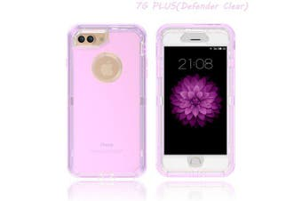 L8 transparent phone case for color transparent shell of IPHONE 7P- purple